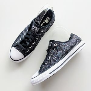 Converse CTAS OX Black/White/Glitter
